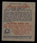 1949 Bowman #130   Harry Walker Back Thumbnail