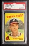 1959 Topps #40 C  Warren Spahn Front Thumbnail
