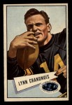 1952 Bowman Small #20   Lynn Chandnois Front Thumbnail