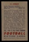 1951 Bowman #143  Al Demao  Back Thumbnail