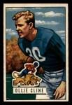 1951 Bowman #134   Ollie Cline Front Thumbnail