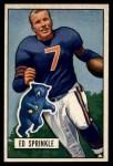 1951 Bowman #51   Ed Sprinkle Front Thumbnail