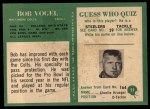 1966 Philadelphia #25  Bob Vogel  Back Thumbnail