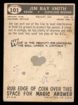 1959 Topps #101   Jim Ray Smith Back Thumbnail