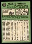 1967 Topps #132   Ozzie Virgil Back Thumbnail