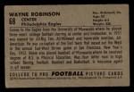 1952 Bowman Small #68  Wayne Robinson  Back Thumbnail