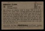 1952 Bowman Small #76   Herman Clark Back Thumbnail
