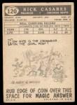 1959 Topps #120   Rick Casares Back Thumbnail