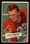1952 Bowman Small #110  Jack Simmons  Front Thumbnail