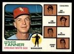 1973 Topps #356  White Sox Leaders  -  Chuck Tanner / Joe Lonnett / Jim Mahoney / Alex Monchak / Johnny Sain Front Thumbnail