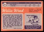 1970 Topps #261   Willie Wood Back Thumbnail