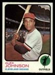 1973 Topps #425   Alex Johnson Front Thumbnail