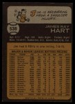 1973 Topps #538   Jim Ray Hart Back Thumbnail