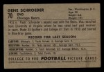1952 Bowman Small #70  Gene Schroeder  Back Thumbnail