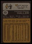 1973 Topps #454   Tom Haller Back Thumbnail