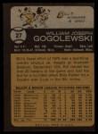 1973 Topps #27   Bill Gogolewski Back Thumbnail