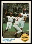 1973 Topps #202  1972 NL Playoffs - Foster's Run Decides It  -  George Foster / Pete Rose / Alex Grammas Front Thumbnail
