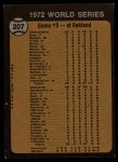 1973 Topps #207  1972 World Series - Game #5 - Odom Out at Plate  -  Blue Moon Odom / Johnny Bench Back Thumbnail