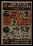 1972 Topps #310  In Action  -  Roberto Clemente Back Thumbnail
