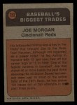 1972 Topps #752  Traded  -  Joe Morgan Back Thumbnail