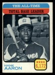 1973 Topps #473  All-Time Total Base Leader  -  Hank Aaron Front Thumbnail