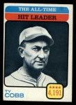 1973 Topps #471  All-Time Hit Leader  -  Ty Cobb Front Thumbnail
