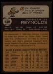 1973 Topps #638   Ken Reynolds Back Thumbnail