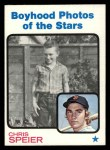 1973 Topps #345  Boyhood Photo  -  Chris Speier  Front Thumbnail