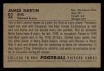 1952 Bowman Small #52   Jim Martin Back Thumbnail