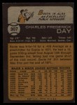 1973 Topps #307   Boots Day Back Thumbnail