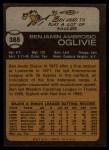 1973 Topps #388   Ben Oglivie Back Thumbnail