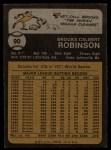 1973 Topps #90   Brooks Robinson Back Thumbnail