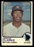 1973 Topps #198   Horace Clarke Front Thumbnail