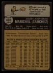 1973 Topps #480   Juan Marichal Back Thumbnail
