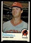1973 Topps #195   Clay Carroll Front Thumbnail