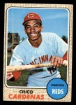 1968 Topps #23   Leo 'Chico' Cardenas Front Thumbnail