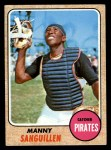 1968 Topps #251  Manny Sanguillen  Front Thumbnail