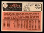 1966 Topps #475  Dick Radatz  Back Thumbnail