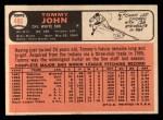 1966 Topps #486   Tommy John Back Thumbnail