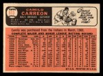 1966 Topps #513  Camilo Carreon  Back Thumbnail