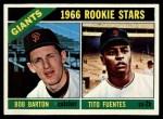 1966 Topps #511  Giants Rookies  -  Tito Fuentes / Bob Barton Front Thumbnail