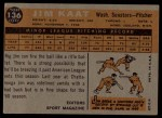 1960 Topps #136   -  Jim Kaat Rookie Star Back Thumbnail
