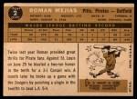 1960 Topps #2  Roman Mejias  Back Thumbnail