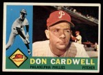 1960 Topps #384   Don Cardwell Front Thumbnail
