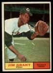 1961 Topps #18   Jim Mudcat Grant Front Thumbnail