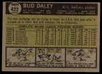 1961 Topps #422   Bud Daley Back Thumbnail