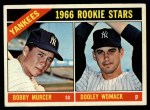 1966 Topps #469  Yankees Rookies  -  Bobby Murcer / Dooley Womack Front Thumbnail