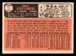 1966 Topps #350  Mel Stottlemyre  Back Thumbnail