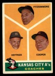 1960 Topps #462  A's Coaches  -  Fred Fitzsimmons / Don Heffner / Walker Cooper Front Thumbnail