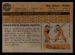 1960 Topps #189   Don McMahon Back Thumbnail